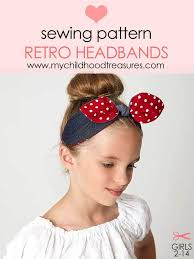 retro headbands retro headband sewing pattern hairband sewing pattern treasurie