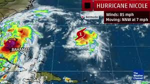 Weather Map Radar Hurricane Nicole Named In The Atlantic The Weather Channel