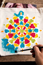 ideas to paint easy mandala painting for kids on t shirts and other fabrics oh