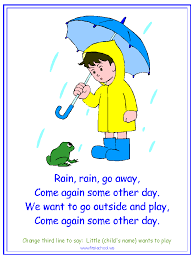 go away nursery rhyme printable materials for a water