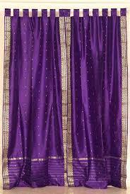 Purple Drapes Or Curtains Purple And Gold Sari Tab Top Purple Silk Sari Curtains Drapes