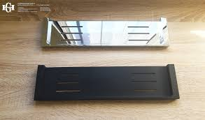 ettore square polished chrome bathroom shower shelf tray