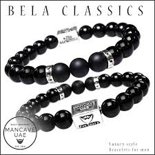 mens luxury bracelet images Men 39 s luxury bracelet b10 gloss onyx matte onyx and sterling jpg