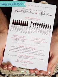 where to get wedding programs printed silhouette wedding programs printed unique wedding program
