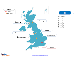 Blank Map Britain by Free United Kingdom Powerpoint Map Free Powerpoint Templates