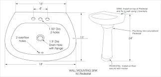 standard sink drain size standard size bathroom sink stard standard drain pipe size for
