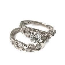 white gold wedding sets engagement set white gold wedding set wedding ring set