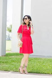 flutter style dress from grandma with love red flutter sleeve dress style of sam