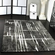 Wohnzimmer Hoch Modern Edler Designer Teppich Mit Steinwand Optik In Grau Schwarz Meliert