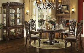 Large Round Dining Room Tables Von Furniture Vendome Large Round Formal Dining Room Set