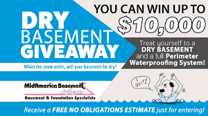 midamerica basement systems dry basement giveaway sweepstakes