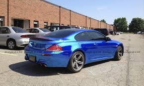 bmw m6 blue blue chrome bmw m6 vehicle customization shop vinyl car wrap
