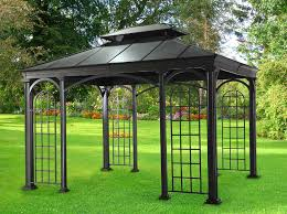 Patio Roofs And Gazebos by Rona Gazebo Metal Roof Roofing Decoration