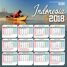 Kalender 2018 Hari Libur Indonesia Kalender Indonesia Tahun 2018 Cdr Beserta Hari Libur Dan Cuti