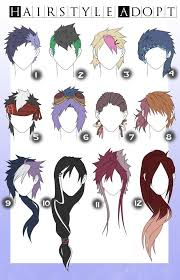 names of anime inspired hair styles 201 best anime hairstyles images on pinterest drawing ideas