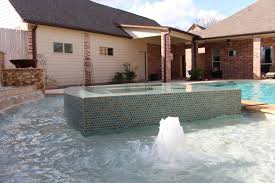 Backyard City Pools by Contemporary Pool Sugar Land Custom Missouri City Negative Edge