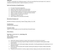 General Ledger Accountant Resume Sample by Dazzling Accounting Resume Skills 11 Sample Accounting Resume