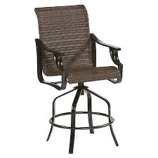 Patio Bar Furniture Sets - shop allen roth safford 2 count dark brown wicker swivel patio