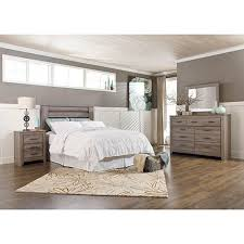 rent to own bedroom furniture rent to own ashley zelen 4 piece queen bedroom set
