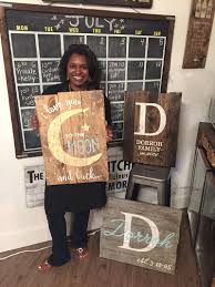 diy wood sign workshops board and brush plano tx