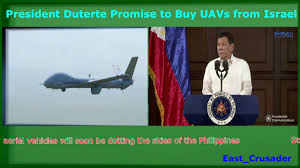 president duterte announce to buy uavs from israel during the