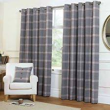 Wool Drapes Plaid Curtains Ebay