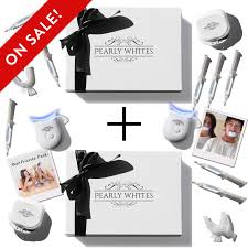 pearly whites best teeth whitening kit 2x at home teeth whitener