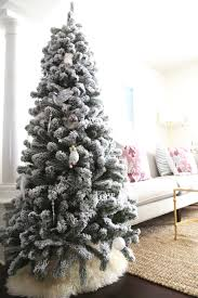 amazing flockedtmas tree ft clearance trees with