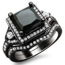 black diamond bridal set buy black diamond engagement rings online shop now and save