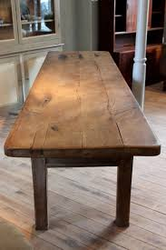 Oak Top Dining Table Large 18th Cent Oak Dining Table With Great Thick Top