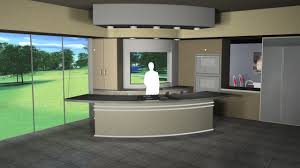 virtual set studio 120 for hd is a kitchen and dining room with a