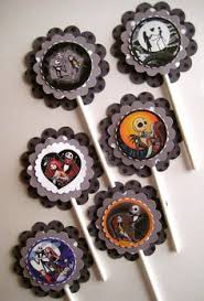 nightmare before christmas cupcake toppers the nightmare before christmas cupcake tooth party decoration