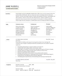 Free Customer Service Resume Template 20 Free Resumes Free Sample Example Format Free U0026 Premium