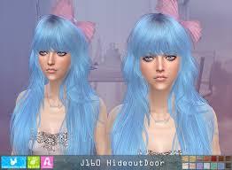 sims 4 blue hair j160 hideoutdoor hair pay at newsea sims 4 sims 4 updates