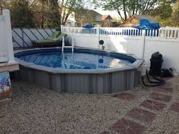 Backyard Pool Cost by 12x17 Sharkline Extruder Semi Inground Pool Brothers 3 Pools