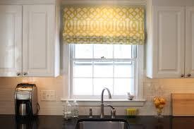 Ideas For Kitchen Window Treatments Impressive Diy Kitchen Window Treatment Idea With Yellow Curtain