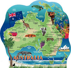 map of australia map of australia showing major cities major tourist