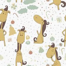 Christmas Cards Invitations Cartoon Horse On The Christmas Background Christmas Seamless