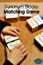 Synonyms Comfort Hands On Synonym Blocks Matching Game Matching Games