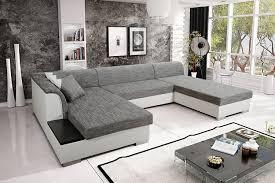 wohnlandschaft u form mit schlaffunktion sofa couchgarnitur couch sofagarnitur kreta 4 u polstergarnitur