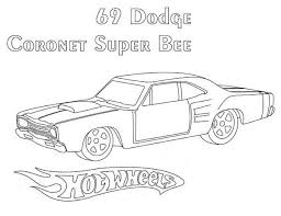 69 dodge wheels coronet super bee coloring page netart