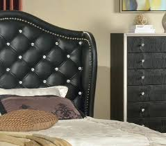 Black Tufted Bed Frame Tufted Headboard With Rhinestone Buttons Awesome Bed Frames Tufted