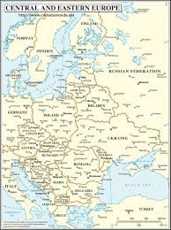 European Continent Map by Central And Eastern Europe Map World Map