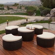 White Wicker Patio Chairs Rattan Wicker Outdoor Daybed Brown Finish Unusual Patio Furniture