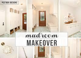 mudroom make over u0026 hand painted concrete floors idea postbox