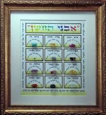 hoshen stones picture of hoshen stones kabbalah chakra breast plate 12 gem