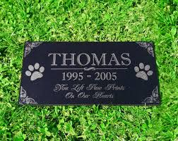 dog memorial you left paw prints on our hearts pet memorial stones