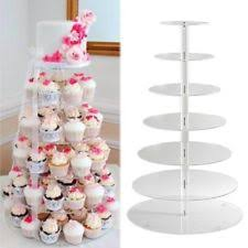 round crystal clear acrylic cupcake stand wedding display cake