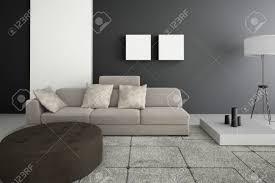 Decorate Living Room Modern Design Living Room Interior Architecture Stock Photo