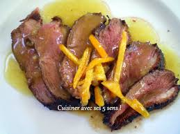 cuisiner le magret magret de canard à l orange cuisiner avec ses 5 sens